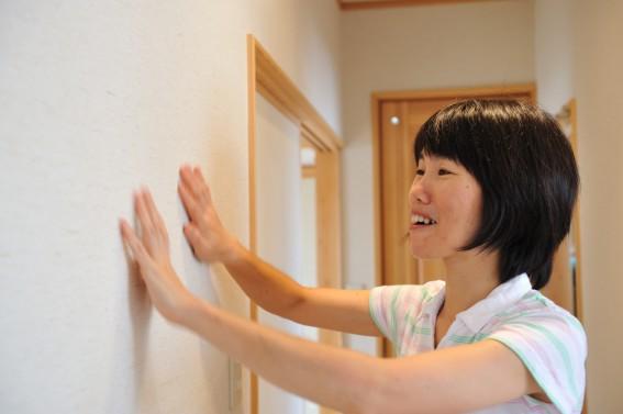 自然素材壁紙の施工例