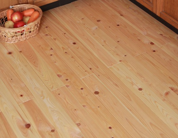 キッチンに最適な無垢フローリング(尾鷲ヒノキ)