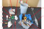 漆喰を塗る時に必要な道具一式
