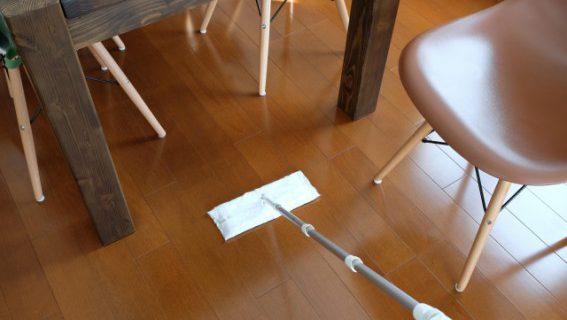 無垢の床のワックスがけ