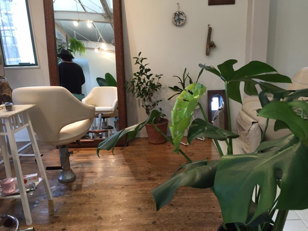 落ち着く雰囲気の美容室