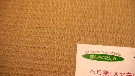 一般的な畳表よりも織りが細かく目が詰まっているメセキ表