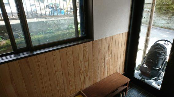 腰まで、壁板の例